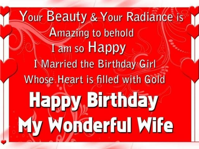 romantic birthday wishes for wife