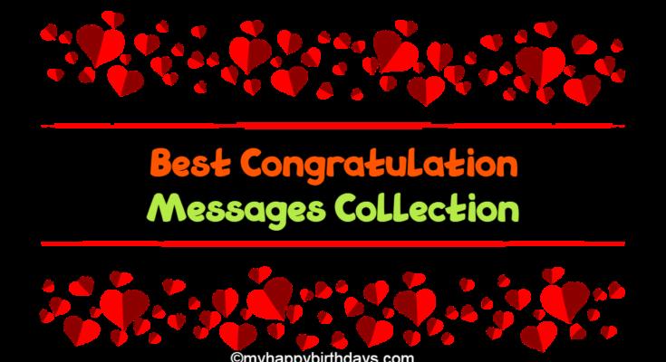 Best congratulation messages