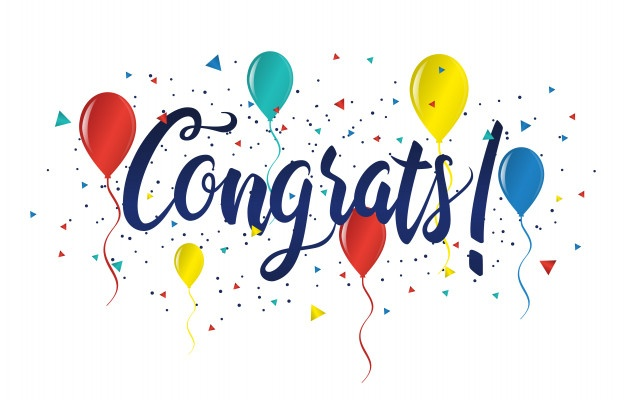 congratulations typography handwritten lettering greeting card banner 7081 766