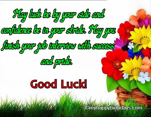 Best of luck 1 1