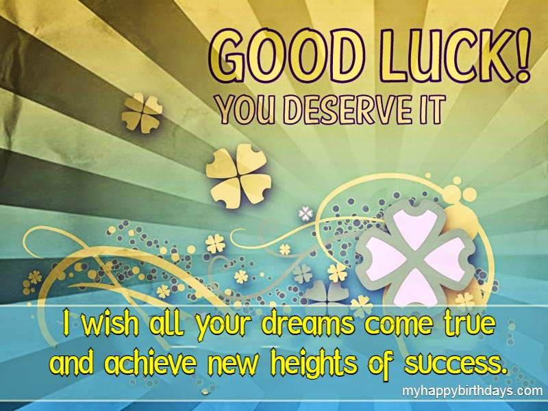 Good Luck Messages For Student