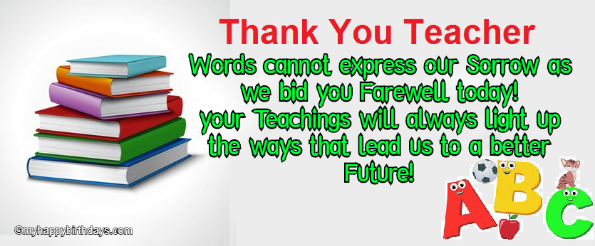 farewell wishes for teacher