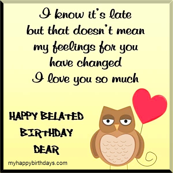 Belated Birthday Wishes For Wife and Love