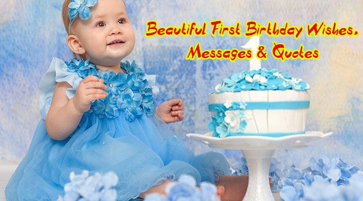 Cute 1st birthday wish