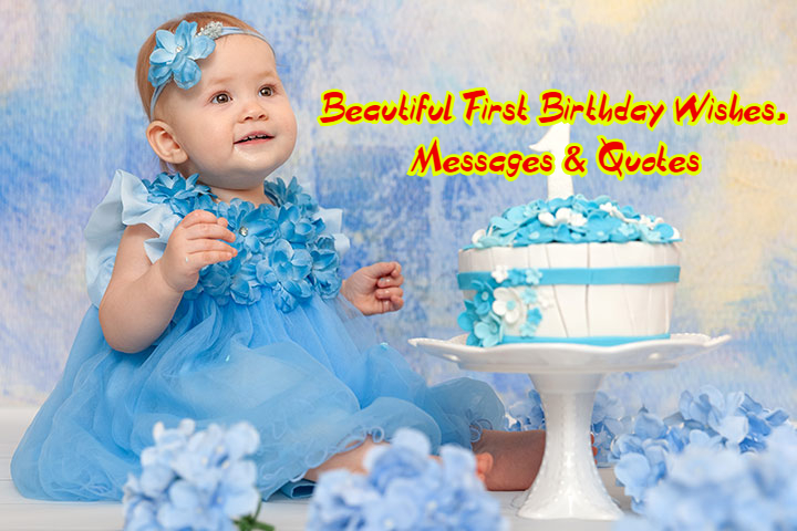 Astonishing 70 Beautiful Happy First Birthday Wishes Messages Quotes Personalised Birthday Cards Veneteletsinfo
