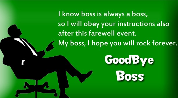 Farewell Messages for Boss