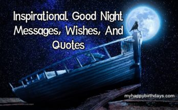 good night inspirational messages