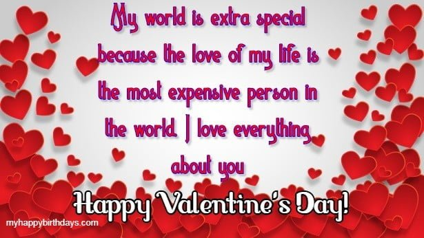 valentine day message for love