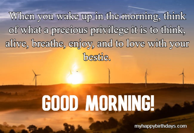 Good morning messages for a friend