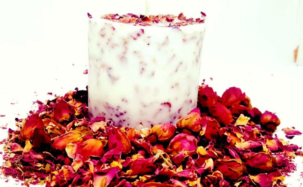 Rose Petal Candles 1