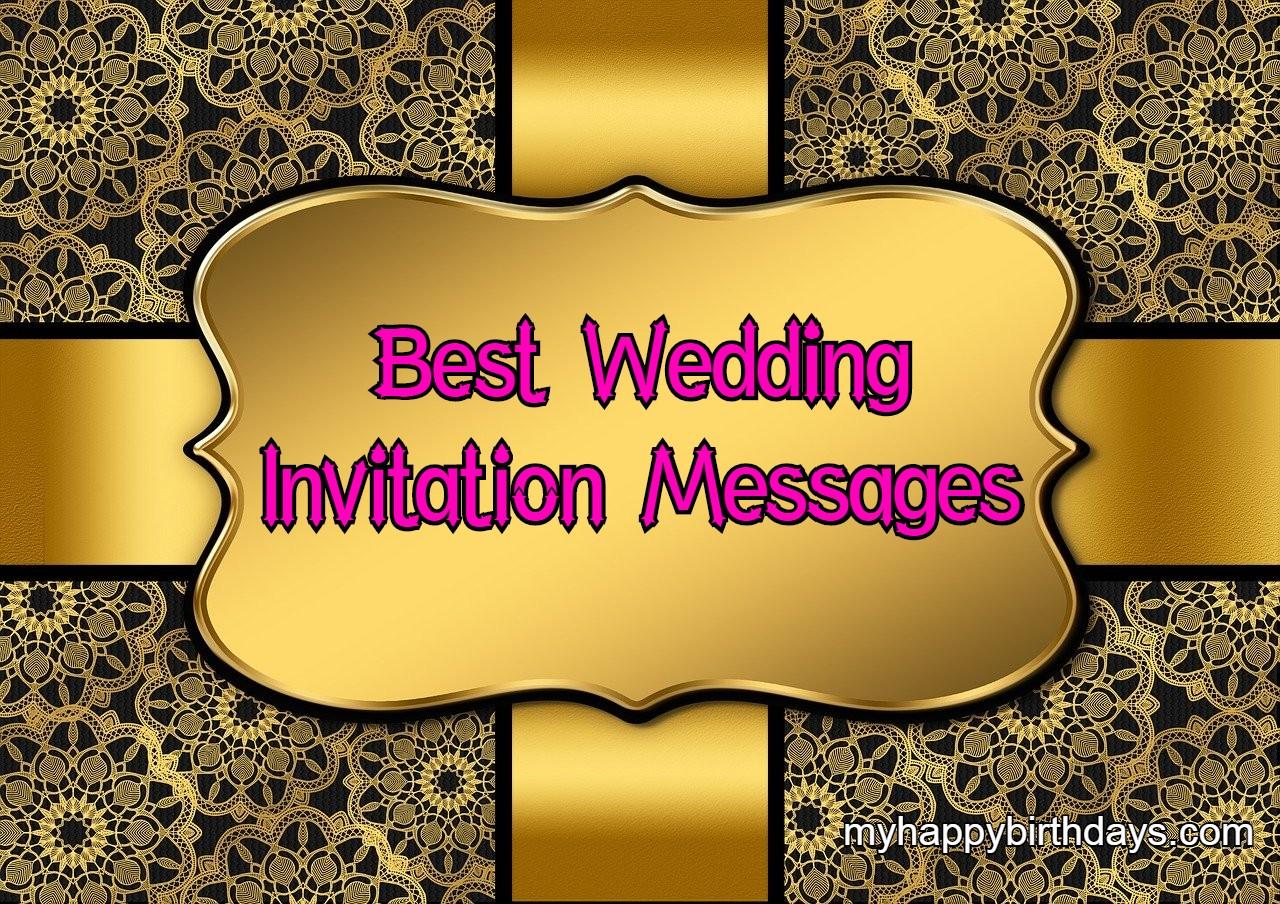 Best Wedding Invitation Messages | Best Wording Ideas