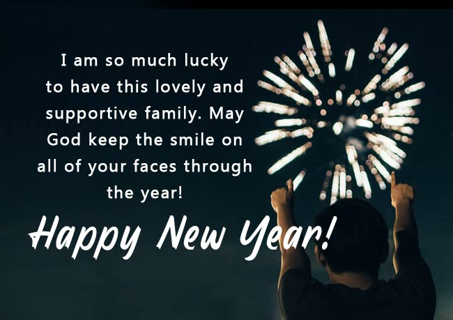 happy new years for family and friends
