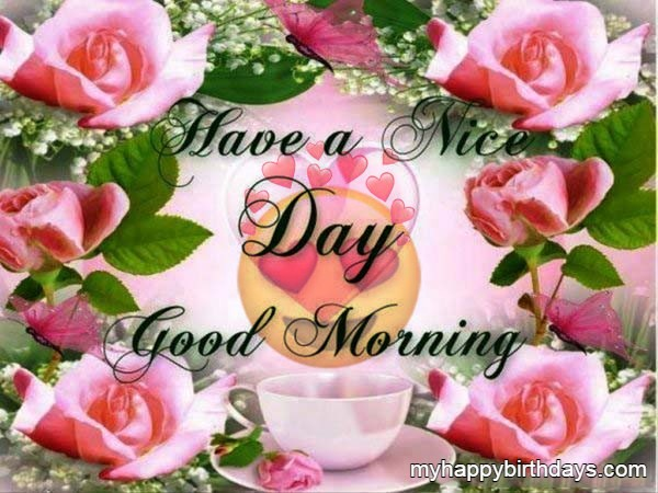 Flowers Image of Good Morning