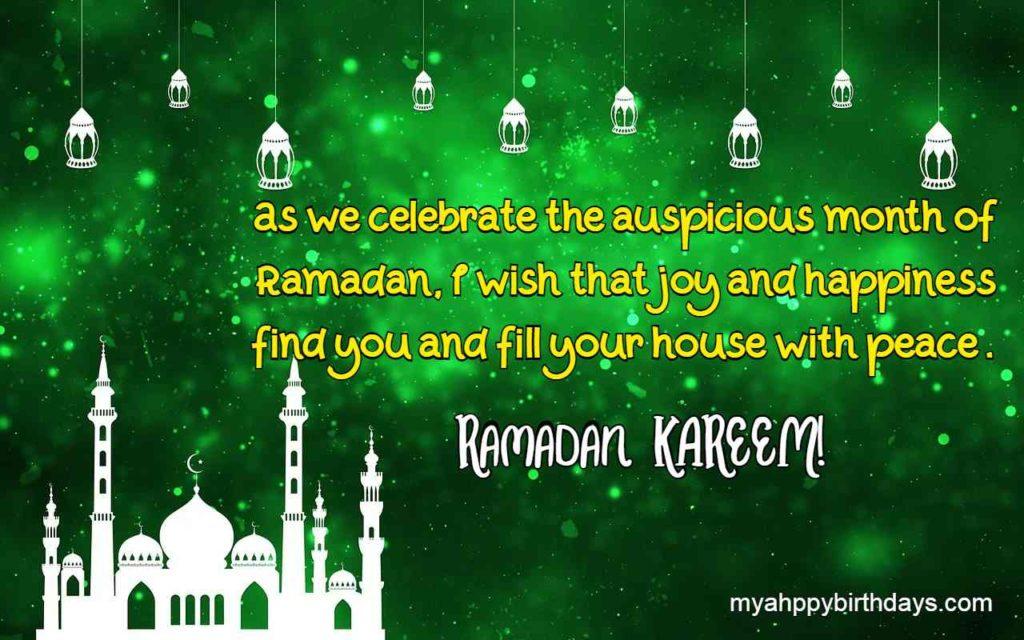 happy Ramadan message