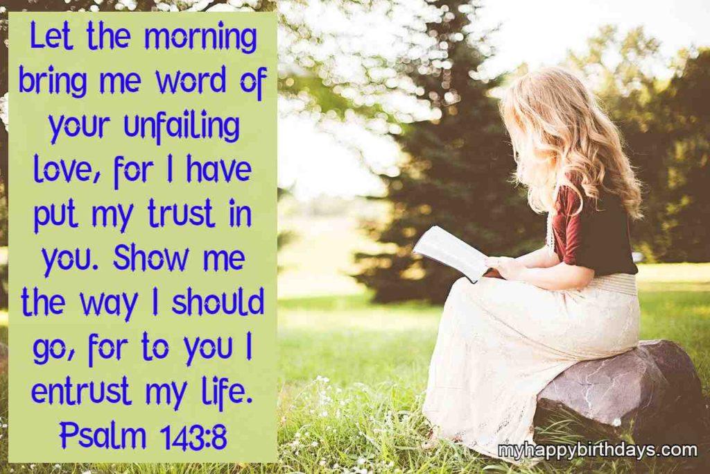 Good morning bible verses image