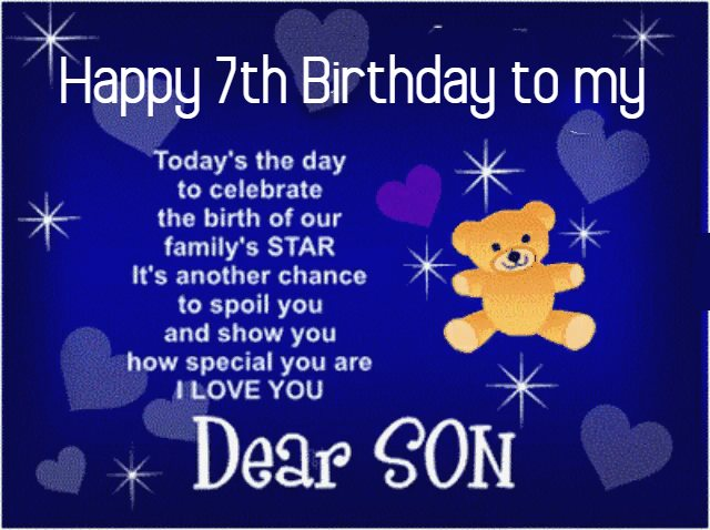 Happy 7th birthday wishes for son