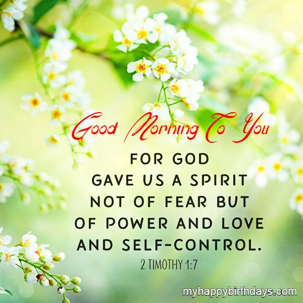 Good Morning Bible Quote Free Download Photo