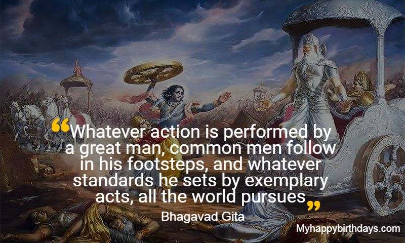 Bhagavad Gita Quotes on Peace and Sucess