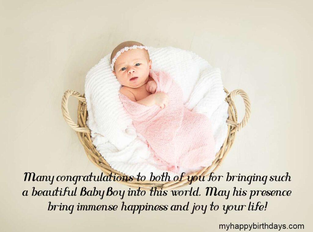 Congratulations for Baby Boy