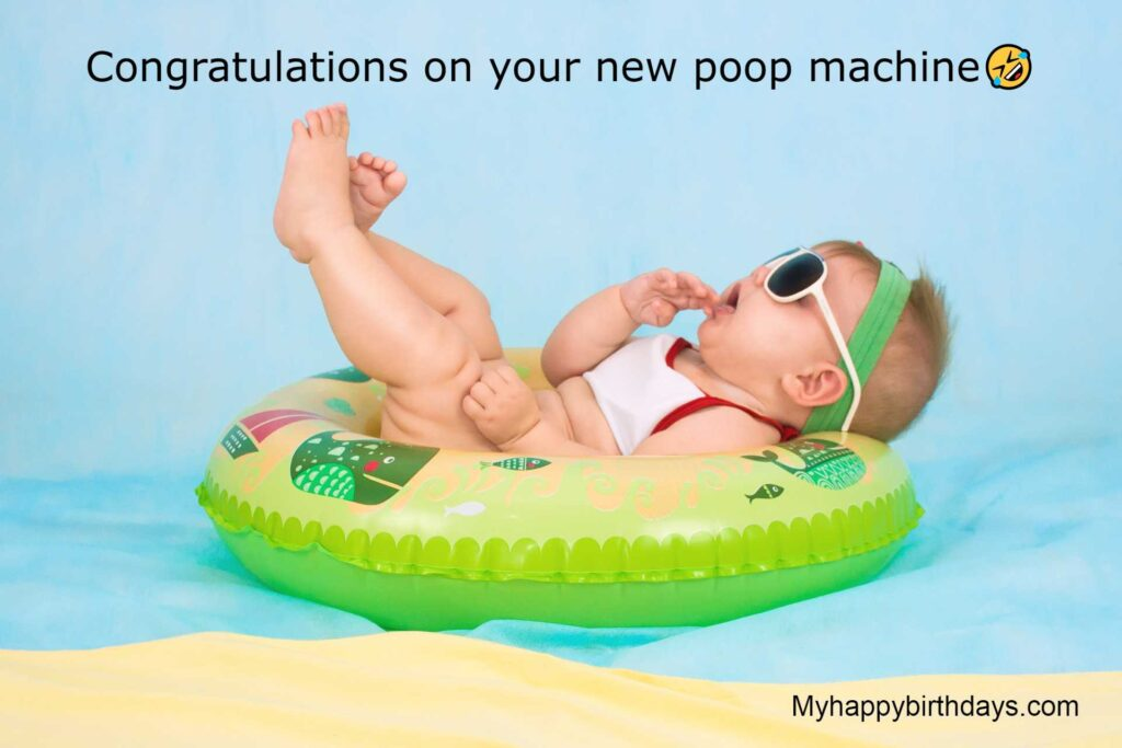 Funny Messages for New Baby Baby Boy