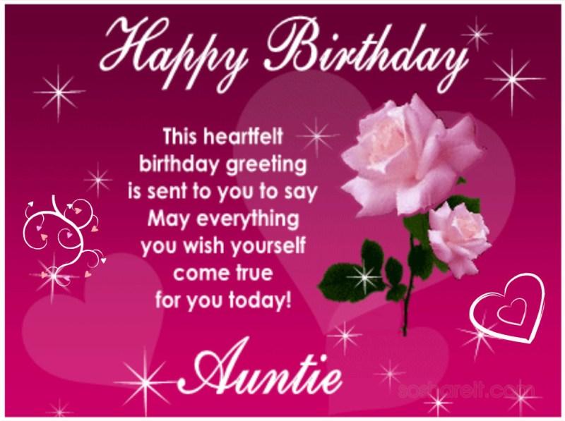 Happiest Birthday Aunt
