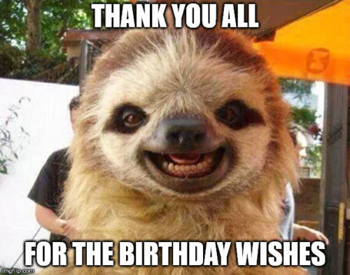 Thank You For Your Birthday Wishes Memes