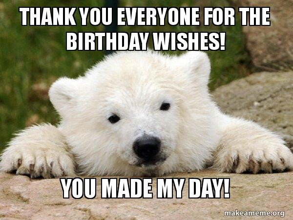 Thank You For The Birthday Wishes Meme 8